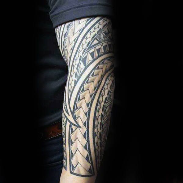 40 Polynesian Forearm Tattoo Designs For Men Masculine Tribal Polynesian Forearm Tattoo Tattoos For Guys Tattoos