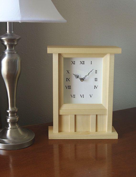 wall clock, table clock, wood clock with pendulum, small clock
