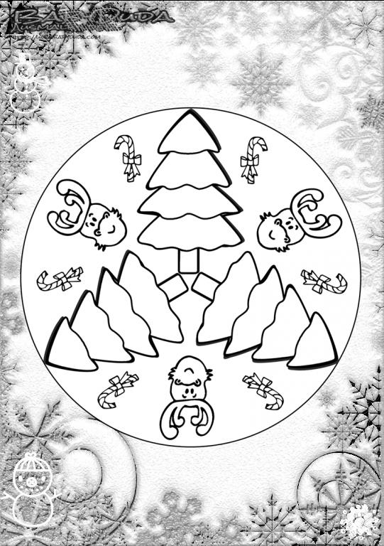Weihnachtsbaum Winter Mandala Ausmalen Babyduda Ausmalbilder Kostenlose Ausmalbilder Mandala Winter