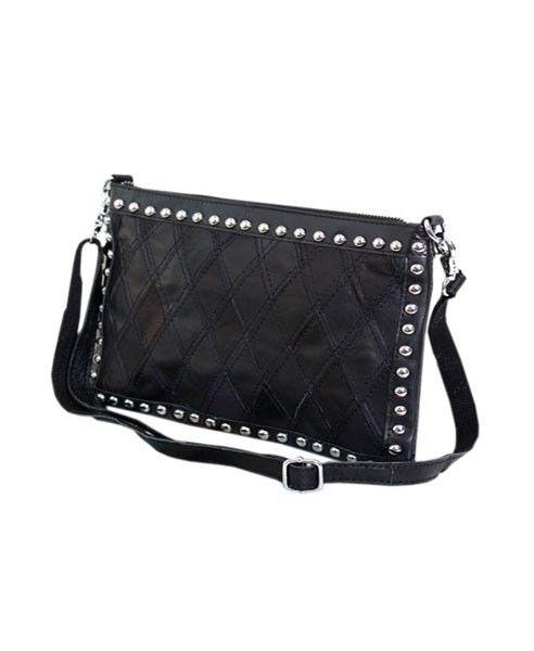 Black Stud Embellished Clutch Bag