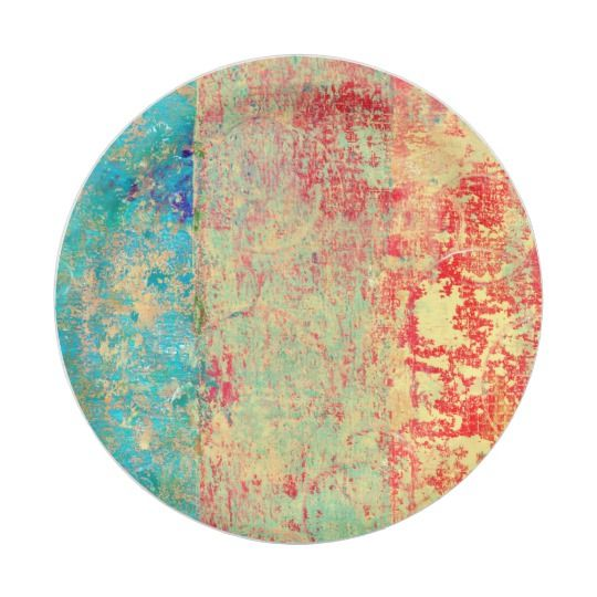 Abstract Art Texture Painting Turquoise Red Green Paper Plate  sc 1 st  Pinterest & Abstract Art Texture Painting Turquoise Red Green Paper Plate | All ...