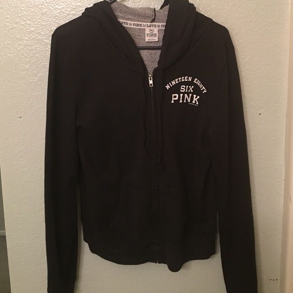 VS PINK zip up sweater No rips or holes, good condition. PINK Victoria's Secret Sweaters