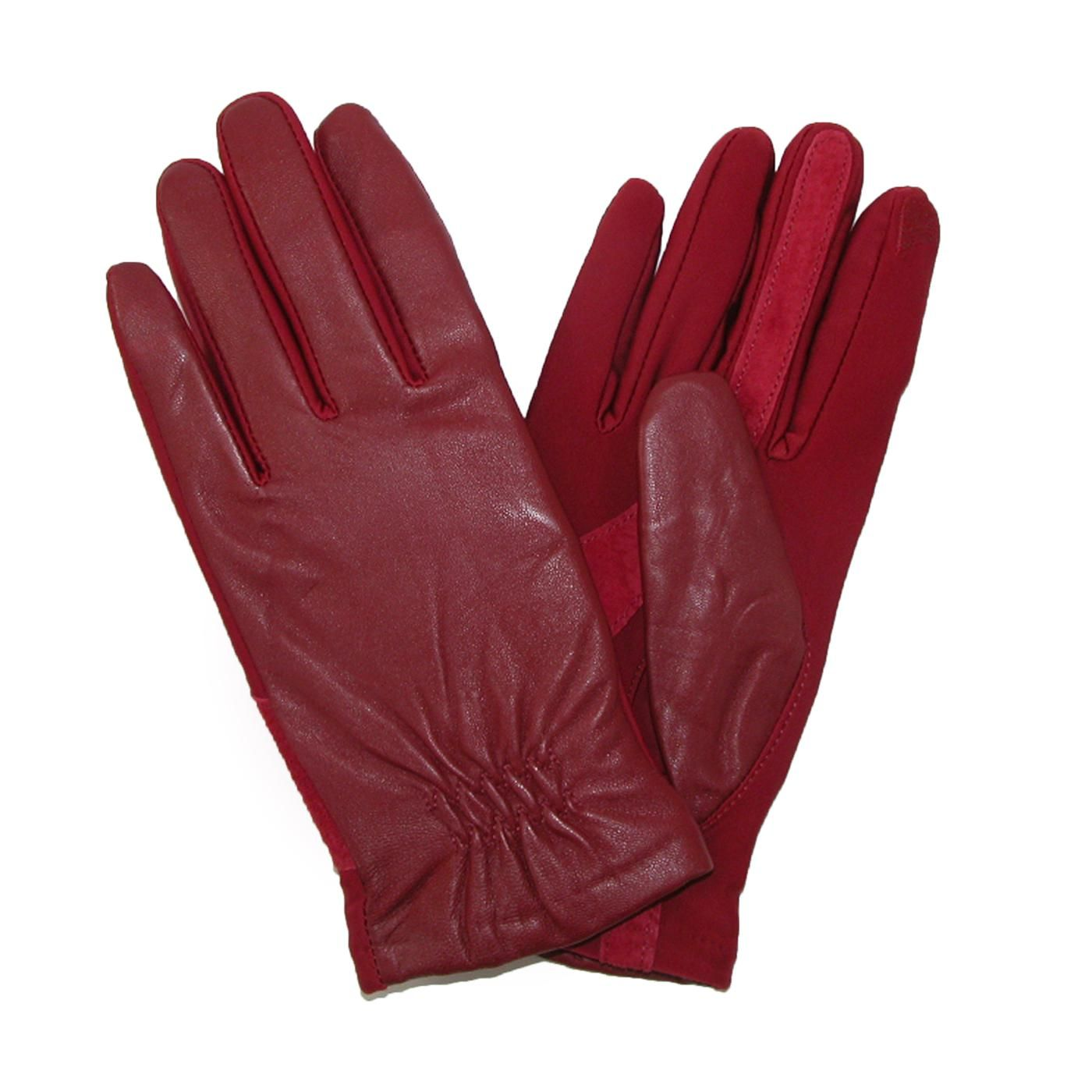 totes ISOTONER Womens Leather Touch Screen Stretch Gloves ...
