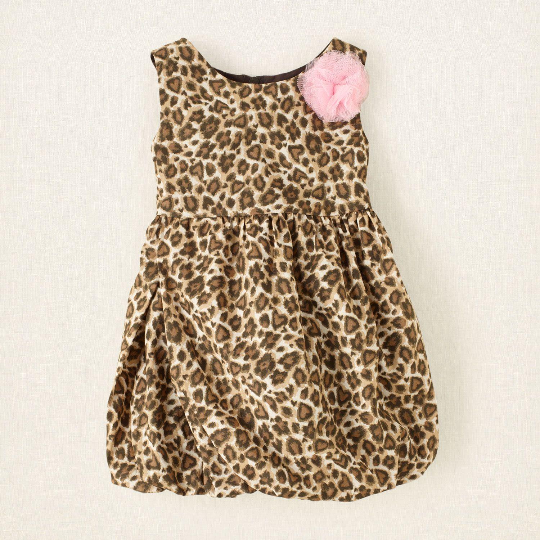 baby girl leopard bubble dress Children s Clothing