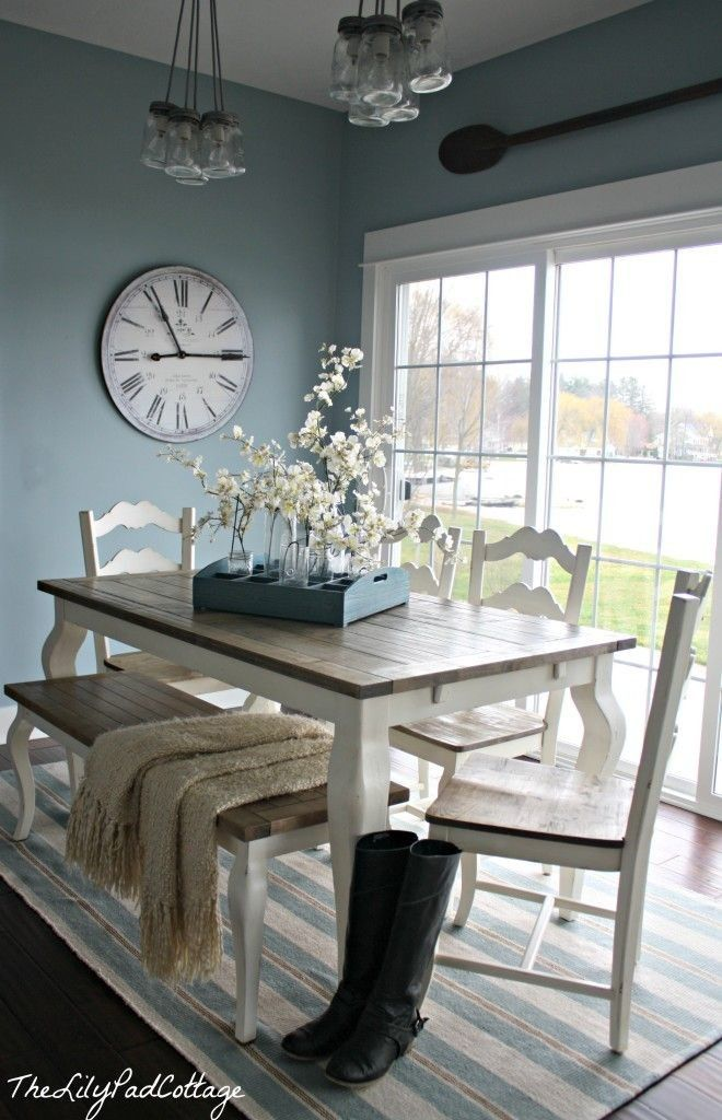 House Tour The Lilypad Cottage Notice The Light Fixture And Table Arrangement Home Home Decor Farmhouse Dining