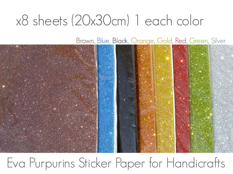 ddd5037ac3b x8 Glitter Foam Adhesive Sheets