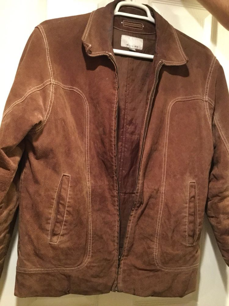 Wilsons Leather Brown Suede Jacket Mens size L fashion