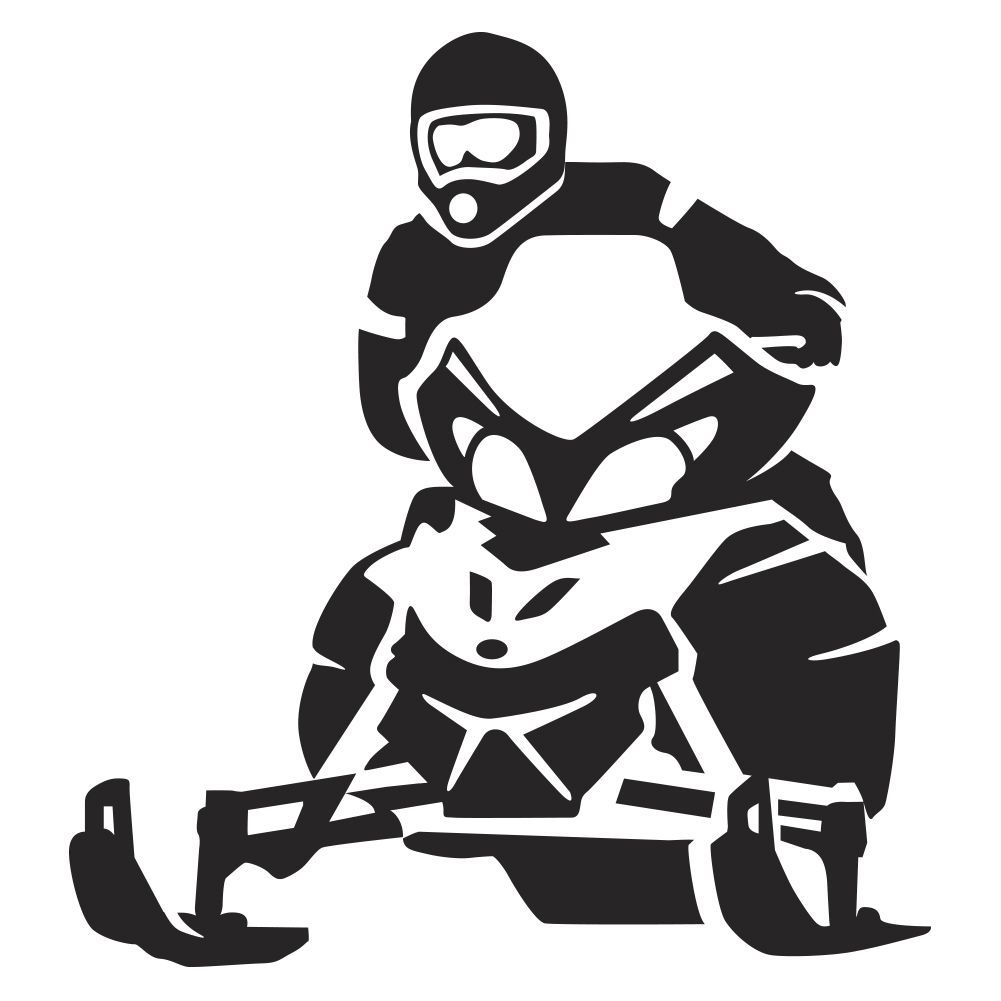 Snowmobile Race Wall Decal | Sport Silhouettes, Vectors ...