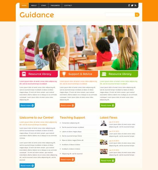 Guidance Free Education Website Template Webdesign Education