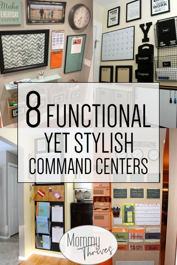 8 Family Command Center Ideas For Busy Moms Mommy Thrives Home Command Center Family Command Center Command Center