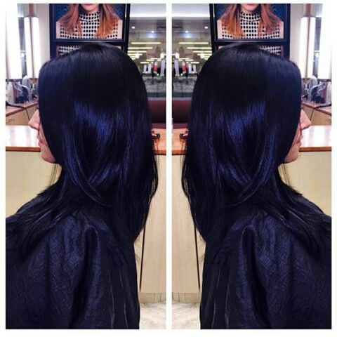 Blueblack Hair Color For Black Hair Hair Color Blue Hair Styles