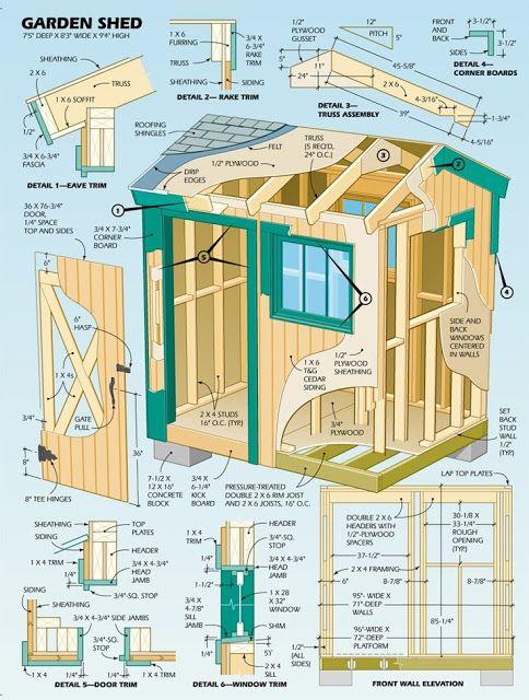 Pallet Garden Shed Plan Blueprint Shed Design Diy Shed Plans Shed Blueprints