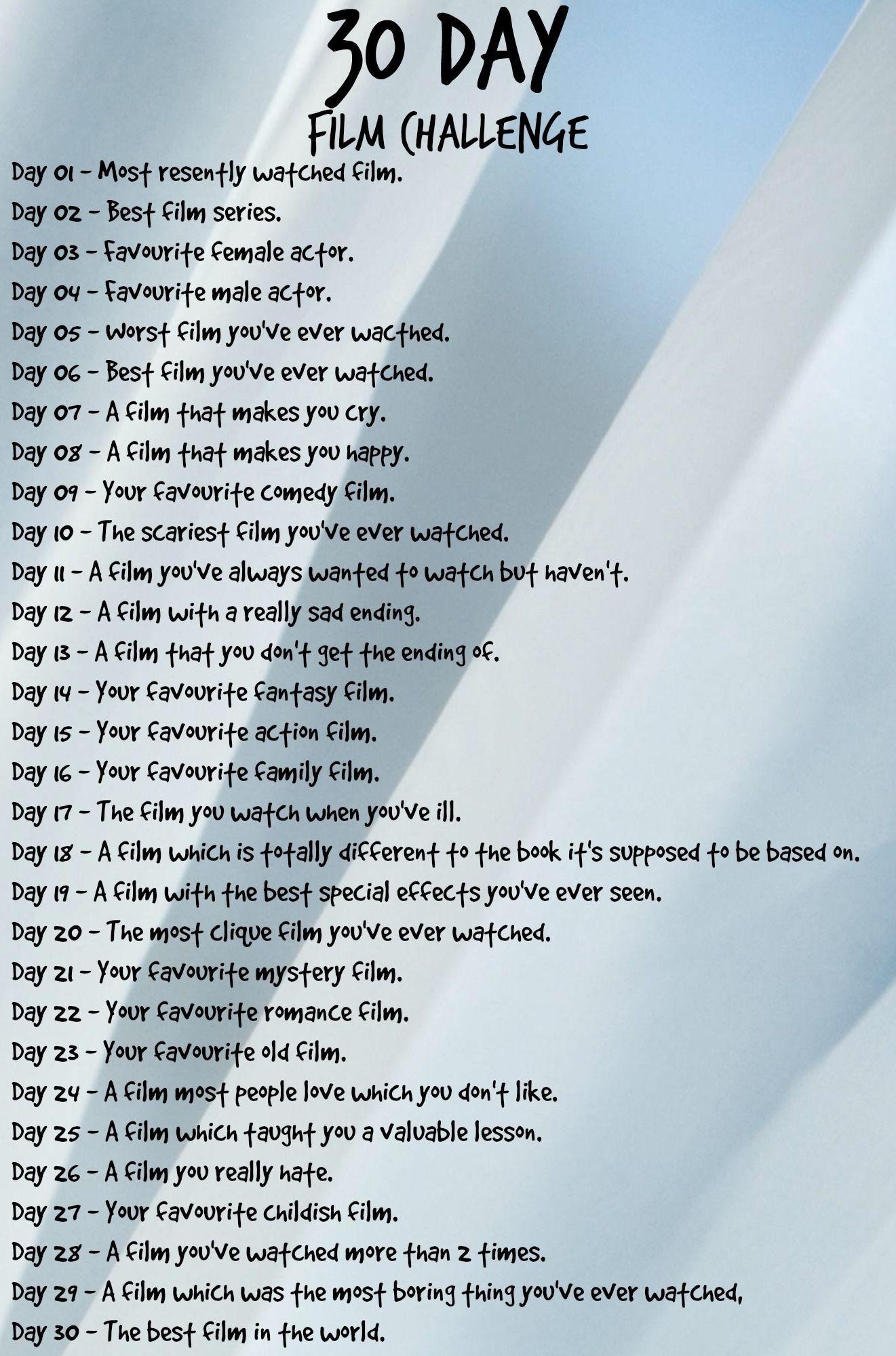 30 Thirty Day Challenge Inspiration