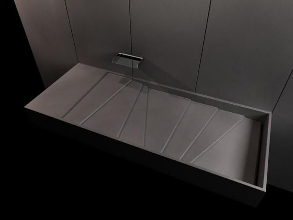 Vasque & Plan vasque sur mesure en béton leger befuhp D BALIAN ...