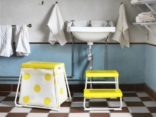 IKEA badkamer opstapjes Glotten met handige opbergbox #badkamer ...