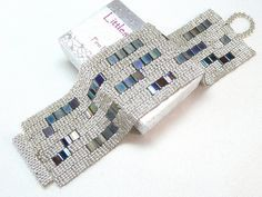 Brillante noche Beadwoven brazalete pulsera por LittlestoneDesign