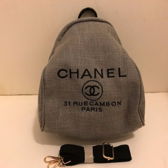 b1db633f29d54a Shop Women's CHANEL size OS Backpacks at a discounted price at Poshmark.  Description: Authentic Brand New Chanel Canvas Cross Body Bag/Backpack .