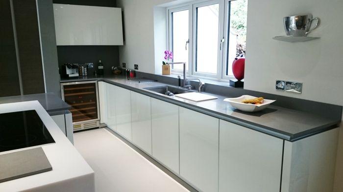 Küchengestaltung Ideen küchengestaltung und passende moderne materialien dafür