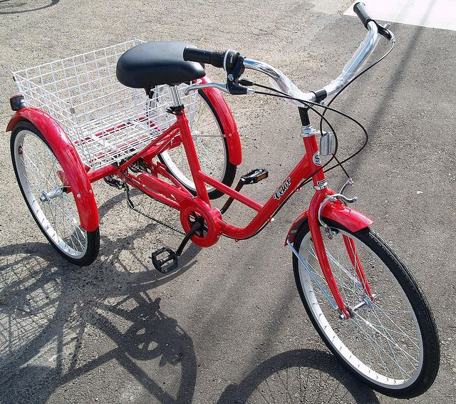 Red Three Wheel Bike I Could Use This To Go On So Many