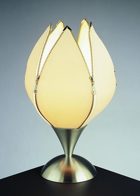 Contemporary Table Lamp Design W/ Tulip Shape At Home Gallery Design.com