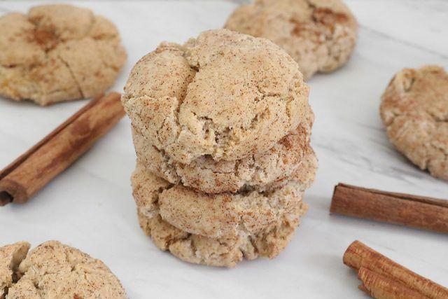 Vegan Cinnamon Sugar Cookies Recipe #cinnamonsugarcookies If you need an easy vegan recipe, make these vegan cinnamon sugar cookies. They call for basic pantry ingredients and just 30 minutes of your time. #cinnamonsugarcookies