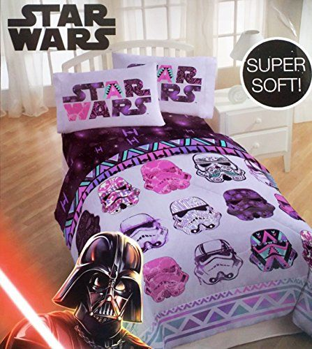 Star Wars Girls 4 Piece Bedding Set Reversible Comforter ... https    7347f55eb