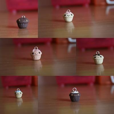 Cupcakes rieurs par Pausa Fimo