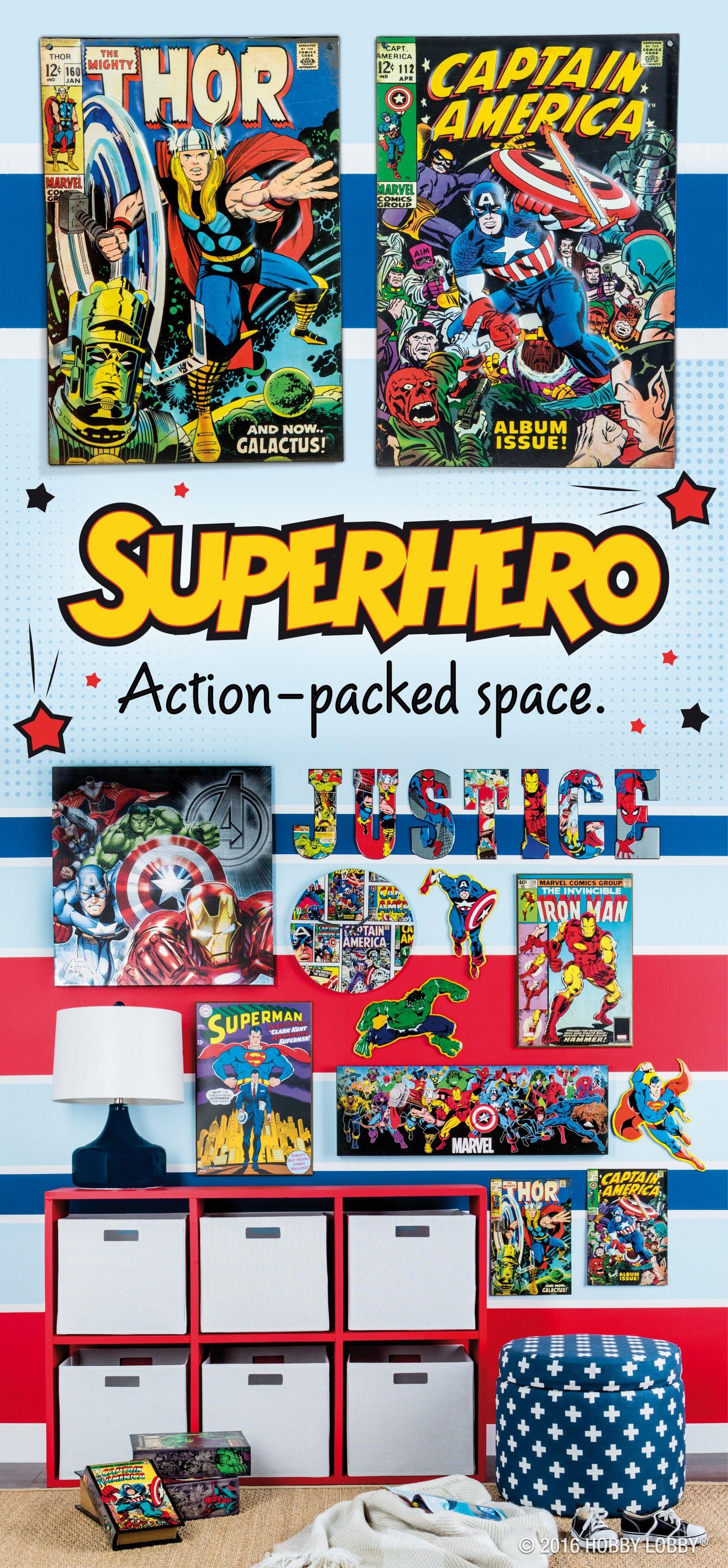 superhero search results  hobby lobby  boy bedroom