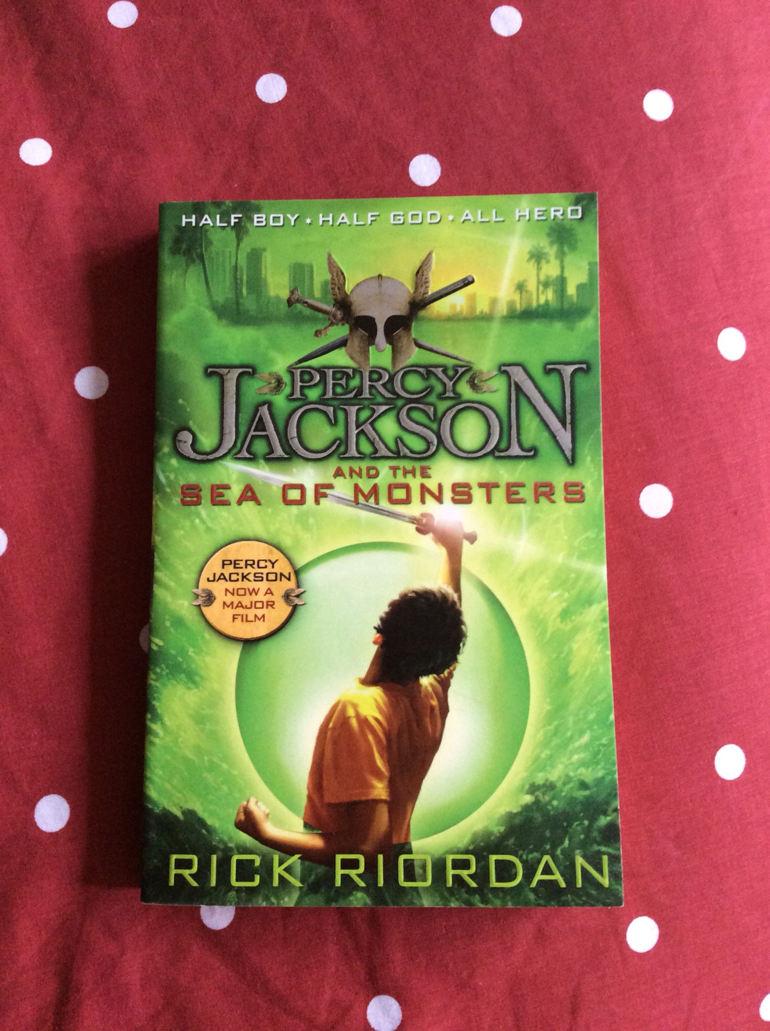 Book 2. Percy Jackson, the young demi-god, is back for his second exciting adventure in the bestselling series by Rick Riordan.  You can't tell by looking at me that my dad is Poseidon, God of the Sea. It's not easy being a half-blood these days. You mortals can't even see the monsters we have to fight all the time. So when a game of dodgeball turned into a death match against an ugly gang of cannibal giants, I couldn't exactly ask my gym teacher for help.  And that was just for starters…