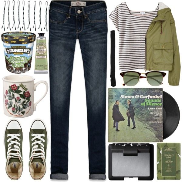 For @graham-was-here (1/5) by raelee-xoxo on Polyvore featuring moda, Steven Alan, Aubin & Wills, Hollister Co., Karen Walker, Converse, Ray-Ban, NARS Cosmetics, Aveda and L'Occitane