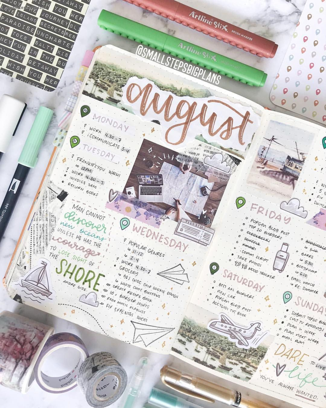 bullet journal bujo planner ideas for weekly spreads ...