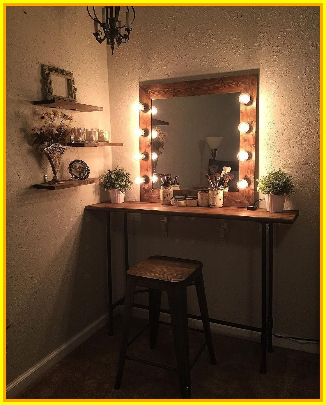 50 reference of small bedroom vanity with mirror in 2020