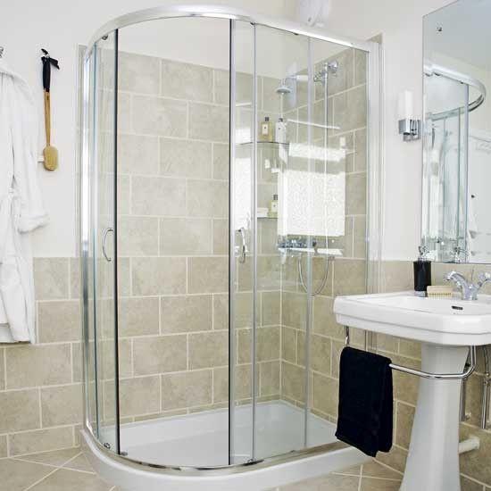 Badezimmer mit Eckdusche Wohnideen Badezimmer Living Ideas Bathroom ...