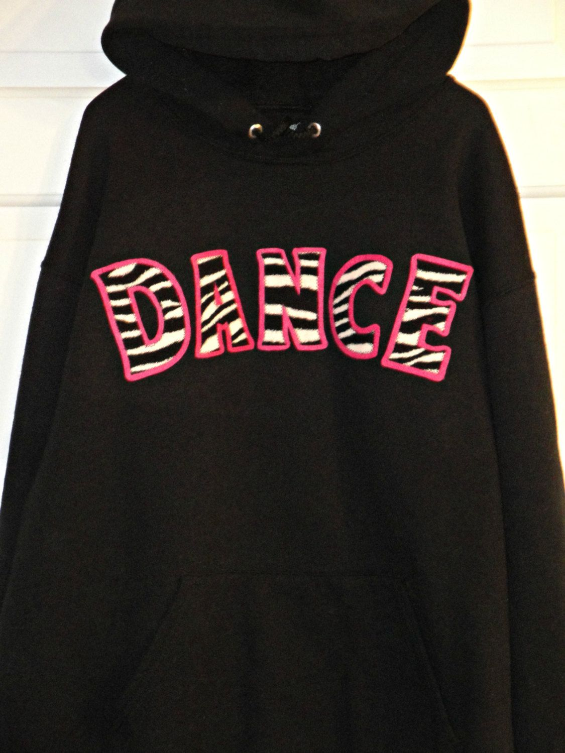 f2c4694bb6d Dance Hoodie. Womens Dance Hoodie. Juniors Hoodie. Zebra Print Hoodie.  Custom Hoodie. Dance Shirt. Girls Dance Shirt. Zebra Print Shirt. by  UniqueApplique ...