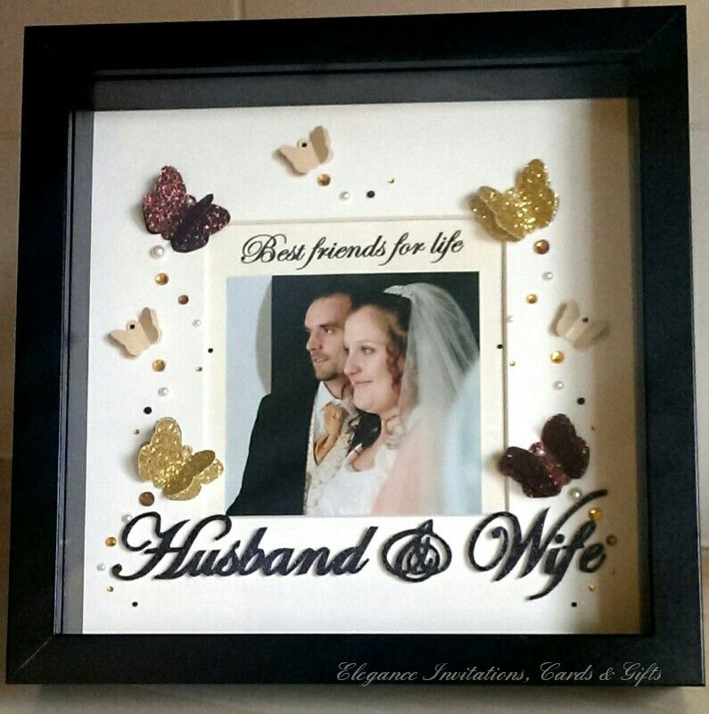 3d Butterfly Frame With Best Friends For Life Husband Wife
