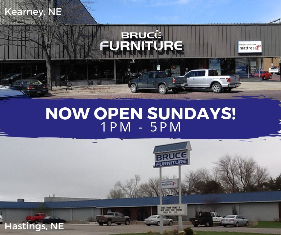 Our Kearney & Hastings locations are now open Sundays 1pm