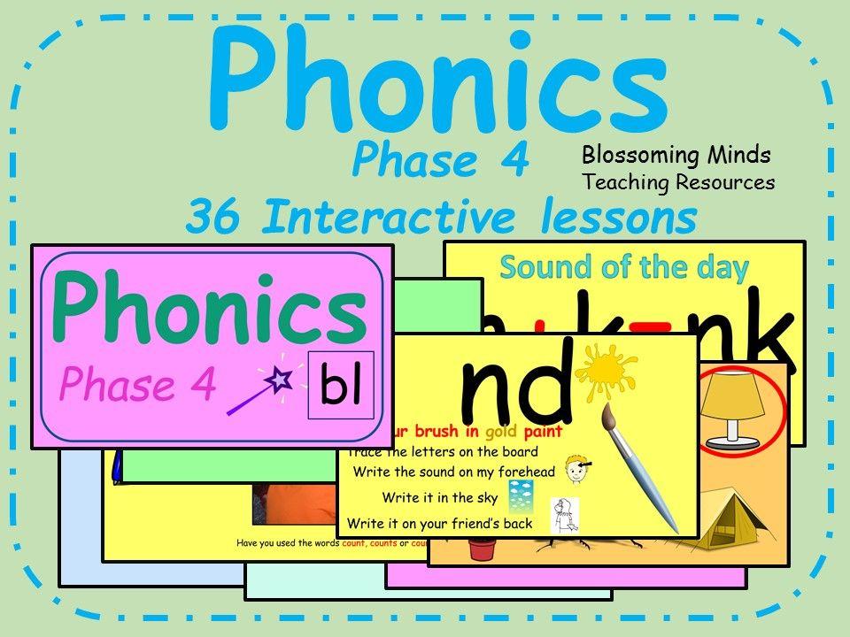 Phonics phase 4 36 interactive lessons phonics