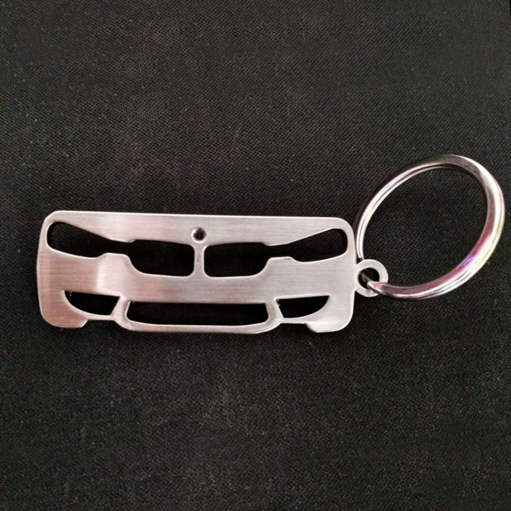 ENGRAVABLE FIRST CAR HALLMARKED KEYRING SOLID SILVER CAR SHAPED KEY RING