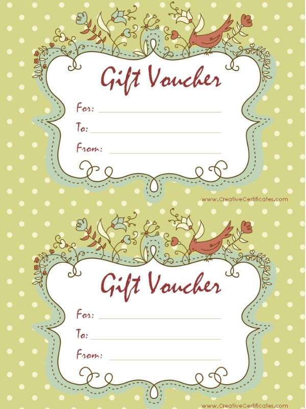 Free Printable Gift Certificate Templates | Gift Certificates