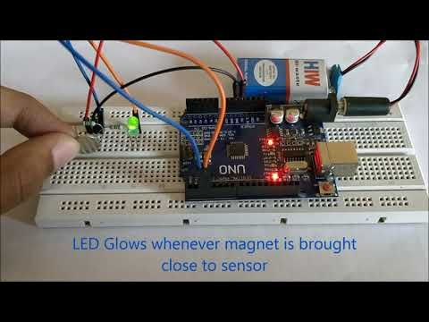 arduino hall effect sensor tutorial with code and schematic diagram rh pinterest com