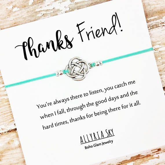 Friendship Bracelet Friend Thank You