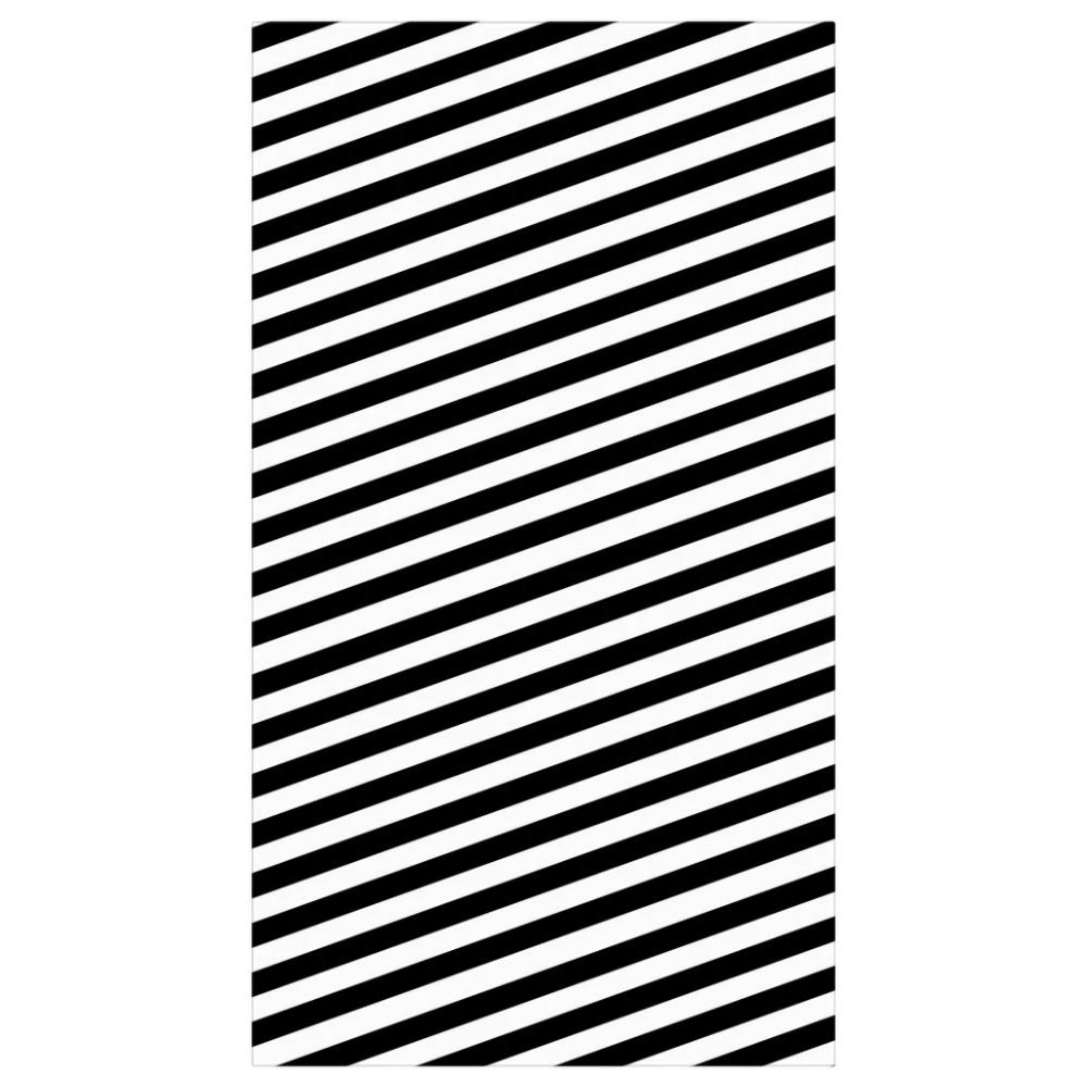Diagonal Striped Tablecloth Table Cloth Diagonal Black And White