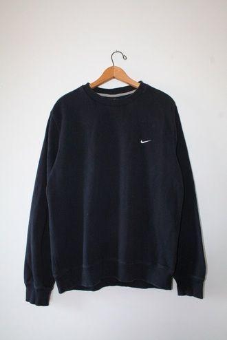 e0af97bcd7d5 sweater nike black sweater oversized sweater tumblr sweater pullover  oversized sweatshirt crewneck vintage