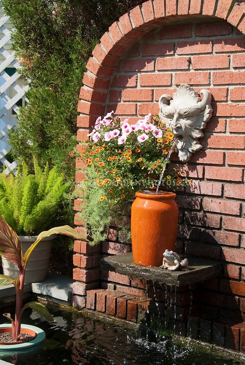 Wall Garden Fountain Google Search