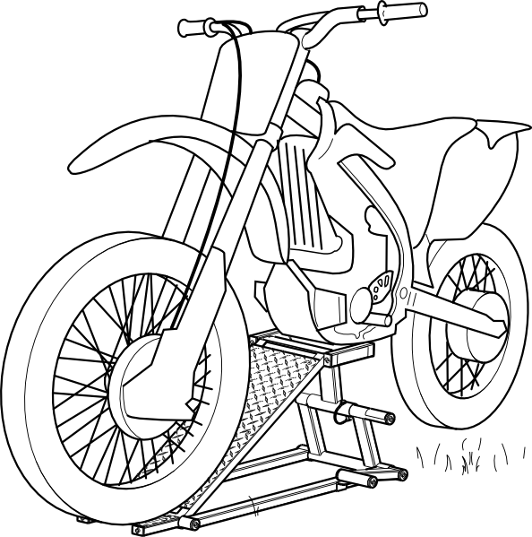 motorcycle coloring pages 1