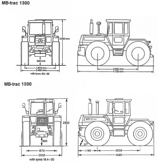 sonstige fahrzeuge » mb trac 1800