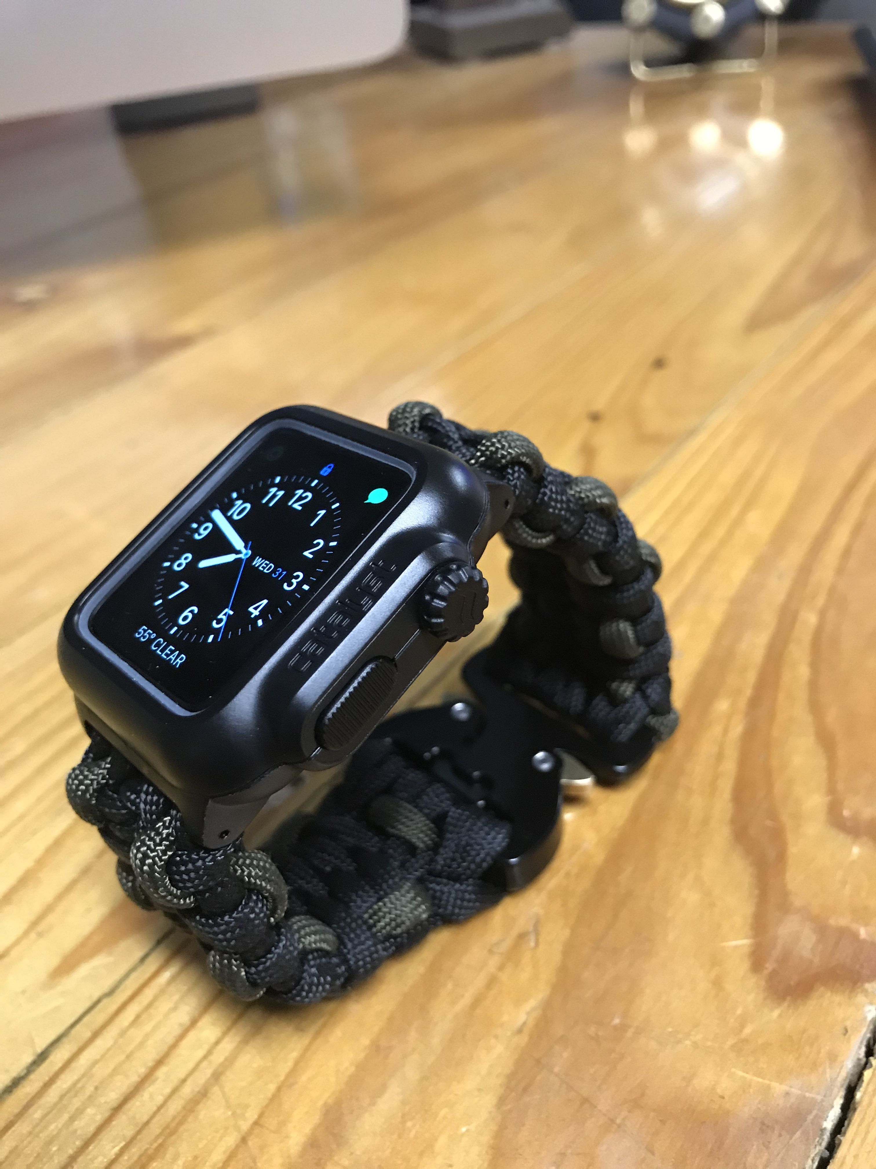 Apple Watch Catalyst Case Paracord Band Cobra Clasp Paracord Reloj