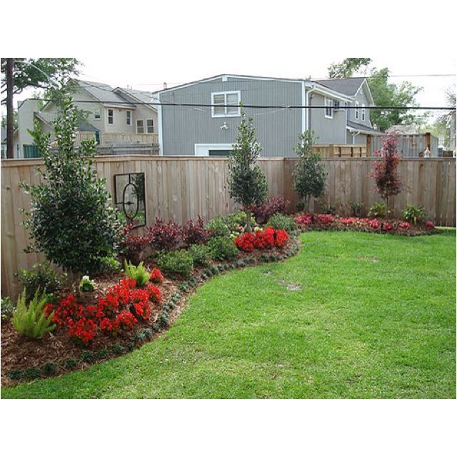 Backyard along the fence outdoor ideas pinterest for Front garden fence designs
