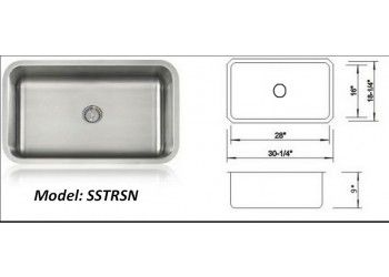#UltraClean #Seamless #Sink - 16 Gauge UltraClean Undermount. Includes Free Shipping within three business days, can be expedited at no extra charge, just call us first. Limited Lifetime Warranty. Model: SSTRSN; Special Price: $492.00