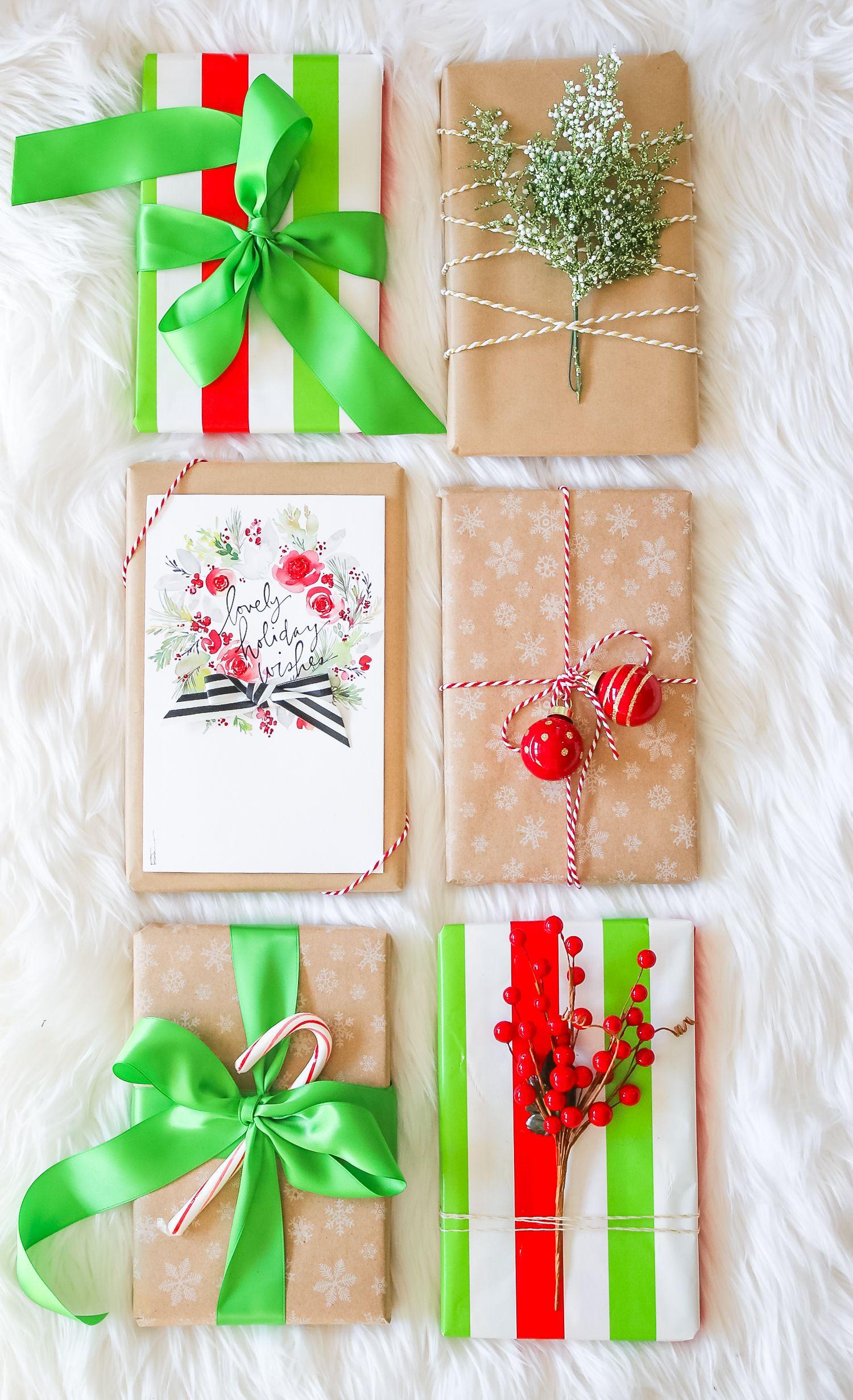 Elegant Holiday Gift Wrap Ideas | Gift wrapping ideas | Pinterest ...